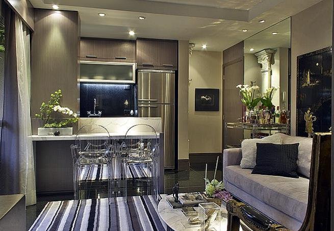 Sala Pequena Integrada Com Cozinha ~ cozinhaabertasala2