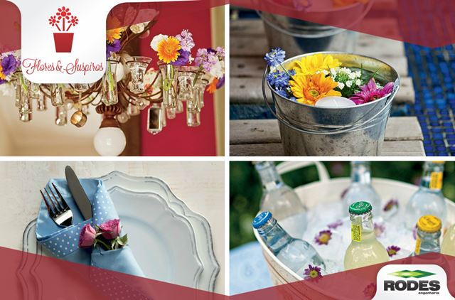 flores coloridas e perfumadas